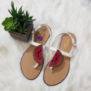 NWT Madeline Stuart Watermelon Sandals, Sz 6.5